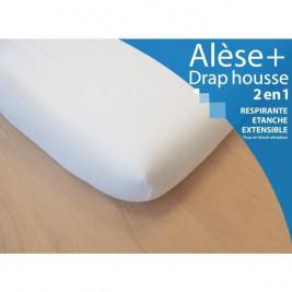 Alèse et Drap Housse Kadolis 70 x 140 cm blanc