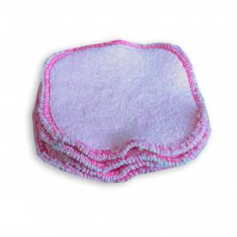 Carrés démaquillants lavables Naturiou rose 10 x 10 cm