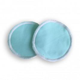 Nursing pads washable bamboo Naturiou blue
