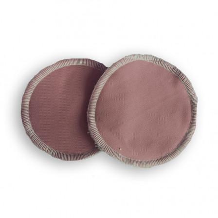Coussinets d'allaitement lavables bambou Naturiou marron