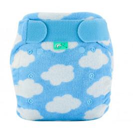 Totsbots Bamboozle strech nappy - Clouds Blue Totsbots