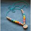 Double Aqua Rainbow Necklace, Juniper Wood Kangaroocare
