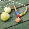 Button Rainbow Necklace, Juniper Wood Kangaroocare