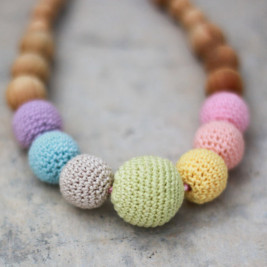 "Collier portage et allaitement ""neutral Simple Rainbow"" Kangaroocare"