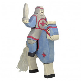 Blue Knight with cloak ridding (without horse) Holztiger