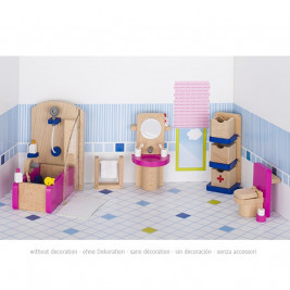 Dolls furniture, bathroom wooden Goki