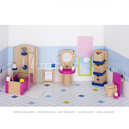Dolls furniture, bathroom wooden Goki