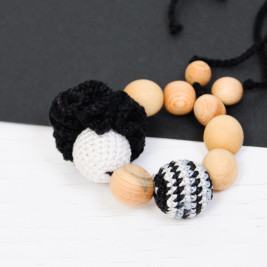 Teething ring Bracelet Black and Zebra Kangaroocare