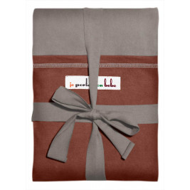 Scarf Original JPMBB Light Gray pocket Red Redwood
