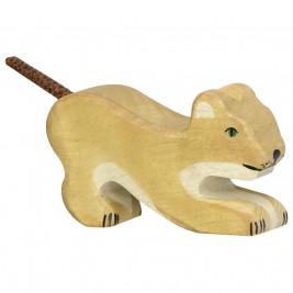 Petit Lion jouant Holztiger 80142