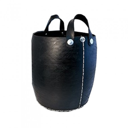 Large Basket to the right with handles in tire recycled Tadé