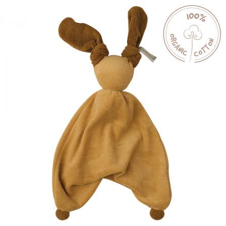 Peppa Floppy Babylonia Blanket Organic Cotton pierre marron