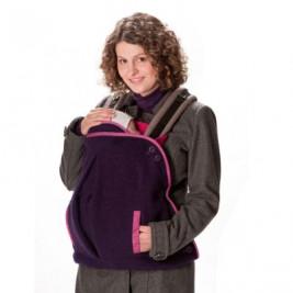 Mamalila coverage of portage wool 2 in 1 Aubergine/ Fuchsia