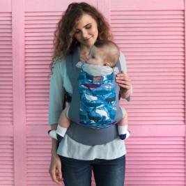 Love And Carry DLIGHT Whales - Porte-bébé Physiologique