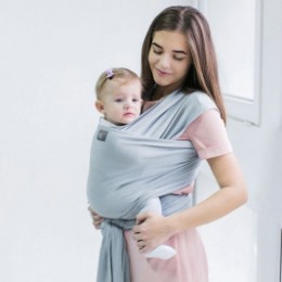 Love And Carry Stretchy Baby Wrap Silver