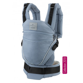 Manduca XT Bellybutton SoftCheck Blue baby carrier adjustable