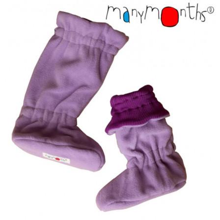Manymonths slippers portage merino wool/ polar Lotus Purple/ Pink