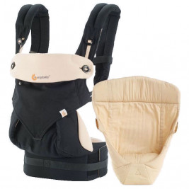 Ergobaby Pack Expandable 360 Black Beige - baby carrier 4 Positions