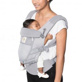 Ergobaby Adapt Cool Air Mesh Gris Perle - Porte-bébé Évolutif
