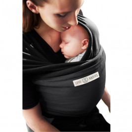 The original JPMBB Baby Wrap Black, pocket Charcoal Black