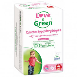Culottes d'apprentissage Love and green taille 4 (7 à 14 kg) / 20