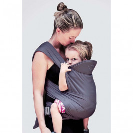 Ling Ling Love M-Tai-Plum - baby-carrier Hybrid