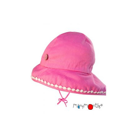 Manymonths chapeau ajustable bébé chanvre et dentelle Charmer/ Explorer 3-12/18 mois