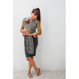 Babylonia Tricot-Slen Design Black and White Stripes - Wrap