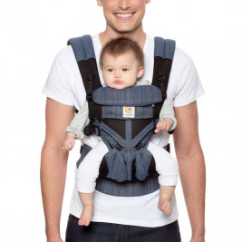 Ergobaby Omni 360 Cool Air Mesh Blue-Jean - baby-carrier Expandable 4 Positions
