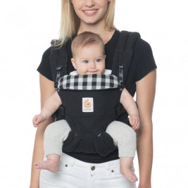 Ergobaby Omni 360 Black Gingham - baby-carrier Expandable 4 Positions