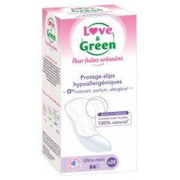Love and Green protège-slips Incontinence Hypoallergéniques  x28