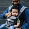 Ergobaby Omni 360 Cool Air Mesh Gris Chiné - Porte-bébé Évolutif 4 Positions