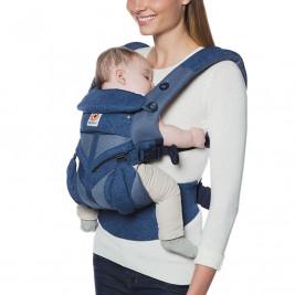 Ergobaby Omni 360 Cool Air Mesh Fleurs Bleues - Porte-bébé Évolutif 4 Positions