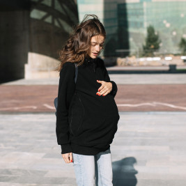 Love and-Carry Jacket Fleece babywearing and pregnancy Black