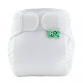 Totsbots Teenyfit Star cloth diaper - White