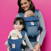 Ergobaby Adapt Cool Air Mesh Flowers Blue - baby carriers-Scalable