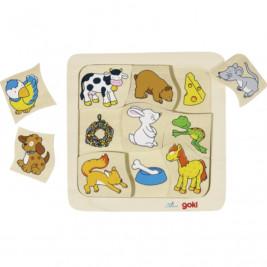 Goki Puzzle qui mange quoi?