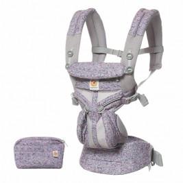 Ergobaby Omni 360 Cool Air Mesh Camouflage Violet - Porte-bébé Évolutif 4 Positions
