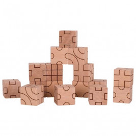 Goki building-Set-geometry - wooden toys