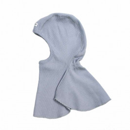 Manymonths Bright Silver - Hooded baby pure merino wool