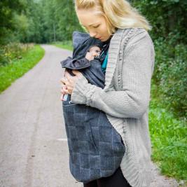 MaM Exclusive Wool Blend FleX Babywearing Cover Herringbone Classic