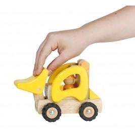 Tracteur chargeur en bois par Goki