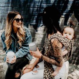 Fidella Fly Tai Leopard golden (size-toddler) - Porte-bébé Meï-taï