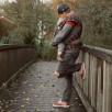 Fidella Fly-Tai Chequers rouge (Taille Bébé) - Porte-bébé meï-taï