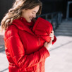 Love and Carry Coat babywearing and pregnancy V2 Red