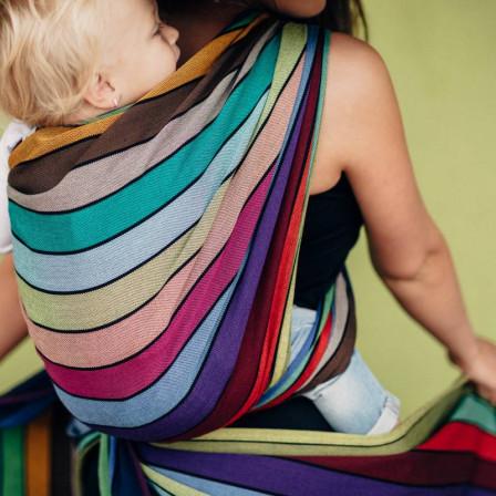 Lennylamb Carousel of Colors - Écharpe de portage sergé brisé