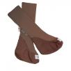Manymonths Chaussons de portage en pure laine Marron Chocolat