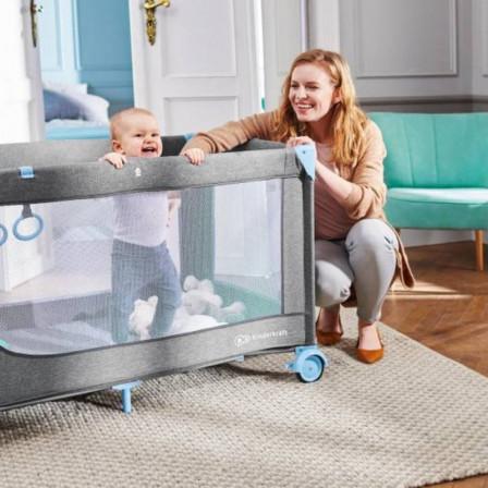 Kinderkraft Joy 2 en 1 Lit de Voyage pour enfant - Parc Lit Parapluie