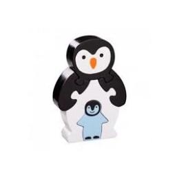 Puzzle Pingouin et bébé en bois Lanka Kade