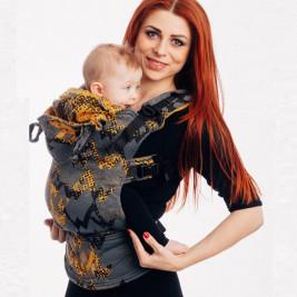 Lennylamb LennyGo Size Baby WAWA - Grey & Mustard